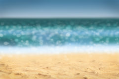 Defocused海滩背景 免版税库存照片