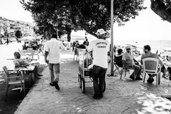 暑假镇海边街道在国家土耳其 免版税库存照片