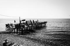 暑假镇海边街道在国家土耳其 免版税图库摄影