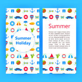 暑假飞行物小册子模板 库存例证