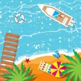 暑假,时刻旅行 使其它靠岸 免版税图库摄影