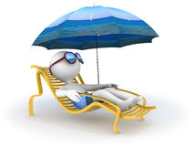 暑假: 海边放松 免版税库存图片