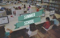 暑期学校教育学生研究概念 图库摄影