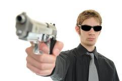 暗中进行的间谍 免版税库存图片