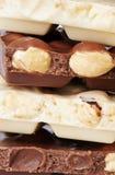 黑暗和白色巧克力 免版税库存图片