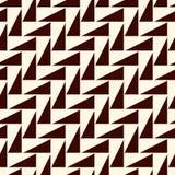 黑暗在白色背景的重复的三角 与几何图的简单的抽象墙纸 模式无缝的表面 库存例证