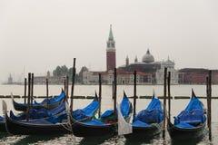 阴暗天在威尼斯,意大利 库存图片