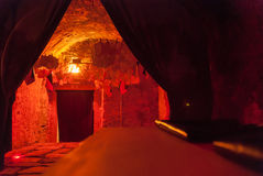 暗房地窖内部摄影照片葡萄酒过程天鹅绒 免版税库存照片