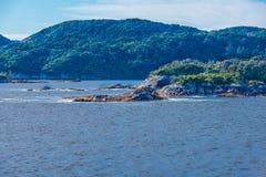 暗淡的声音海岸线  免版税库存照片