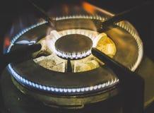 黑暗火焰气体照片 免版税库存照片