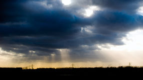 黑暗的云彩 库存照片
