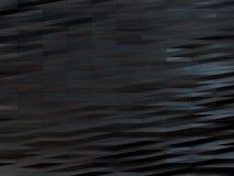 黑暗的低多背景,多角形三角黑波浪 库存图片