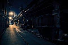黑暗的城市胡同 库存照片