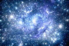 黑暗的外层空间starfield 免版税图库摄影