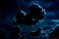 黑暗的夜云彩 免版税库存图片