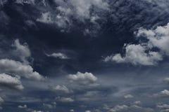 黑暗的天空 库存照片