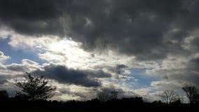 黑暗的天空 免版税库存照片
