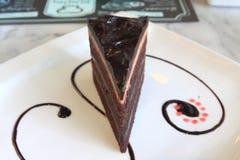 黑暗的巧克力前面  免版税库存图片