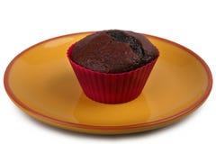 黑暗的巧克力松饼 免版税库存照片
