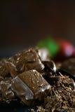 黑暗的巧克力果仁巧克力III 图库摄影