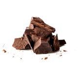 黑暗的巧克力片 免版税库存图片