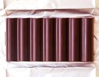 黑暗的巧克力特写镜头 库存图片
