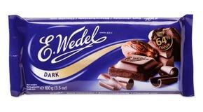 黑暗的巧克力E酒吧  韦德尔 免版税库存图片
