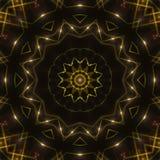 黑暗的抽象背景,金万花筒光 免版税图库摄影