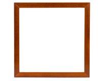 黑暗的方形的木画框 免版税库存图片