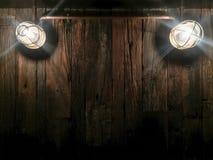 黑暗的木背景纹理,难看的东西工业内部与 免版税库存图片