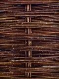 黑暗的木褶 免版税库存图片