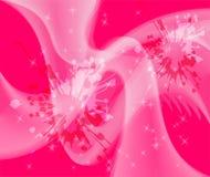 黑暗的桃红色圈子光摘要波浪背景 免版税库存图片