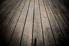 黑暗的楼层木头 背景 免版税库存图片