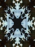 黑暗的母牛皮样式 图库摄影