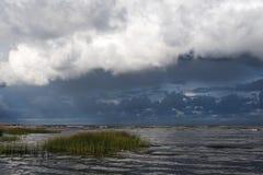 黑暗的波罗的海 免版税库存照片