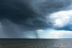 黑暗的波罗的海 库存照片