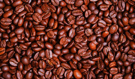 黑暗的烘烤咖啡豆墙纸 库存图片