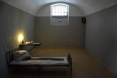 黑暗的监狱牢房在彼得和保罗堡垒 免版税库存图片