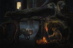 黑暗的神仙的森林 库存图片
