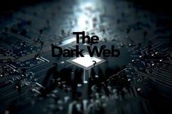 黑暗的网概念 库存照片