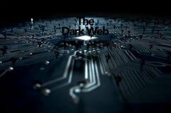 黑暗的网概念 图库摄影