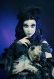 黑暗的美好的哥特式Princess.Halloween当事人 万圣节当事人 库存照片