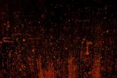 黑暗的老可怕生锈的概略的金黄和铜金属表面纹理/背景为万圣夜或被困扰的房子比赛背景/文本 图库摄影