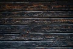 黑暗的老木纹理 免版税库存照片