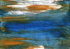 黑暗的蓝灰色的抽象水彩背景 免版税库存照片