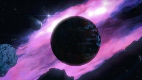 黑暗的行星 皇族释放例证