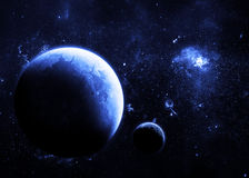 黑暗的行星 免版税库存照片