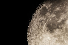 黑暗的详细资料月球月亮第二阶段 库存图片