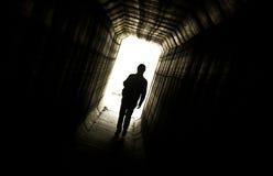 黑暗的走廊 免版税库存图片
