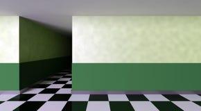 黑暗的走廊 库存照片